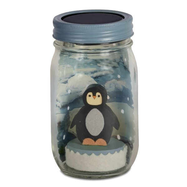 Penguin Mason Jar Solar Night Light by Tree by Kerri Lee