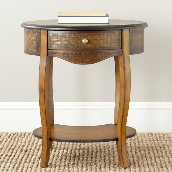 Shirleen End Table with Storage by World Menagerie