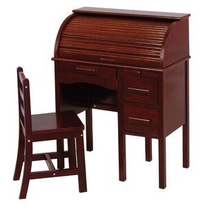 Reviews Auer 2 Piece Roll Top 27 Writing Desk Set ByHarriet Bee