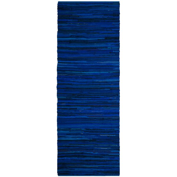 Sanabria Hand-Woven Blue Area Rug by Bungalow Rose
