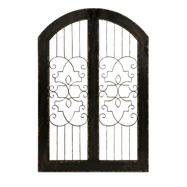 Amelia Fir Wood and Iron Safety Gate by Benzara