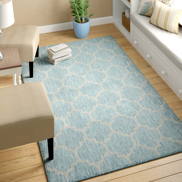 Stanton Aquamarine Outdoor Area Rug by Charlton Home