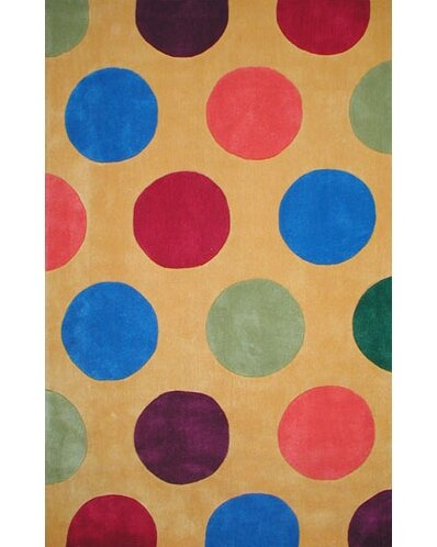 Bright Yellow Dots Area Rug by American Home Rug Co.