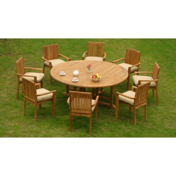 Elim Luxurious 9 Piece Teak Dining Set By Rosecliff Heights by Rosecliff Heights Design