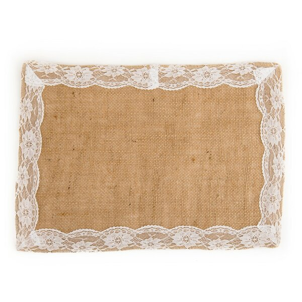 Lace Burlap Placemat (Set of 4) by Linen Tablecloth