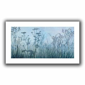 'Wildflowers Early' Graphic Art on Rolled Canvas by Three Posts