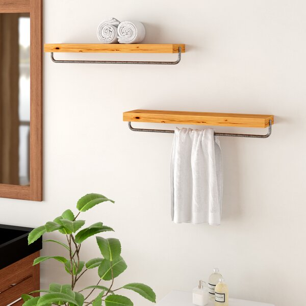 Ayala True Floating Wall Shelf (Set of 2) by Loon
