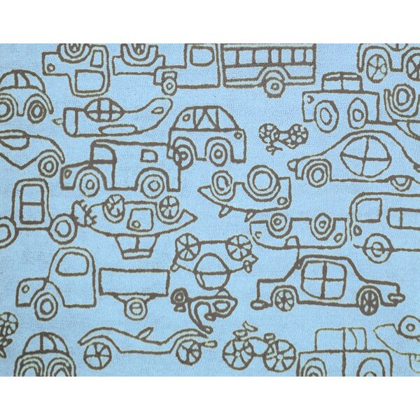 Kids Transport Ozone Blue/Sable Area Rug by notNeutral