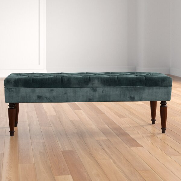 Thursa Upholstered Bench by Three Posts Three Posts