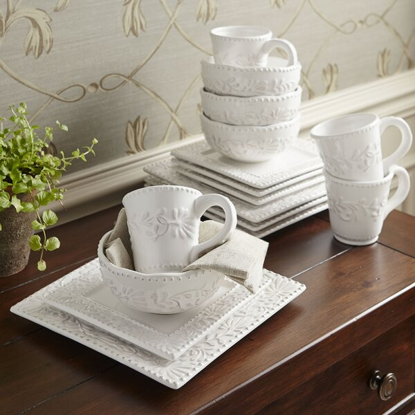 Newport Table Top Square 16 Piece Dinnerware Set, Service for 4 by Birch Lane™