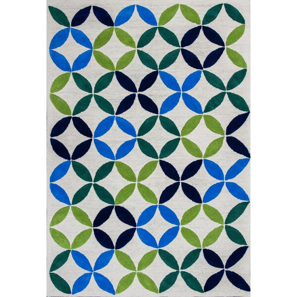 Kamron Pinwheels Hand-Tufted Ivory Area Rug by Harriet Bee
