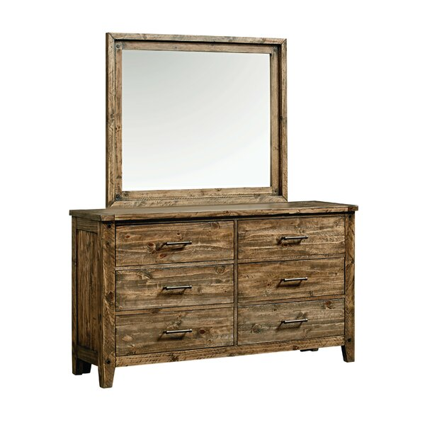 Burleigh 6 Drawer Double Dresser by Loon Peak