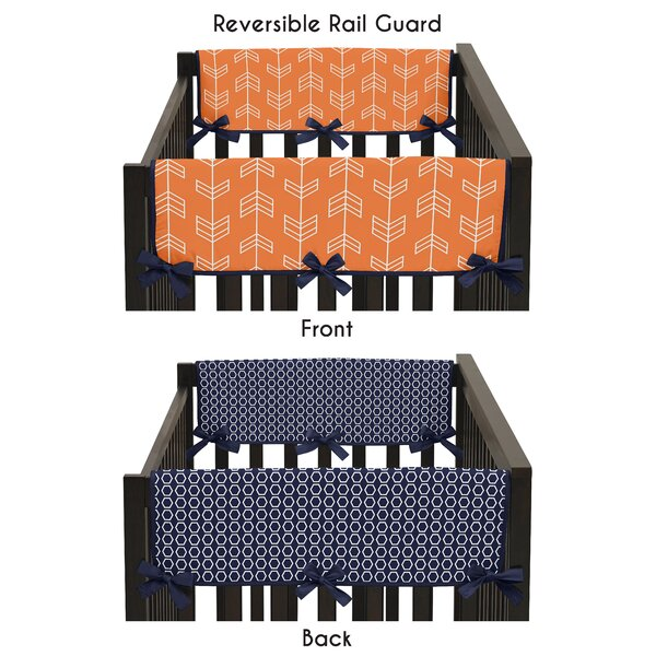 Arrow Side Crib Rail Guard Covers by Sweet Jojo Designs