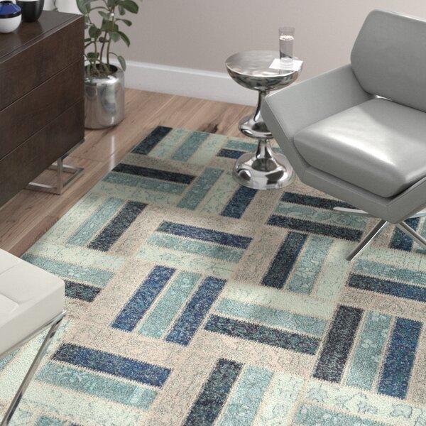 Mercado Gray/Blue Area Rug by Wade Logan