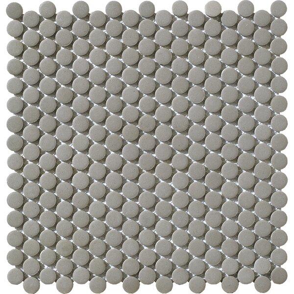 Urban 0.75 x 0.75 Porcelain Mosaic Tile in Grey Penny by Walkon Tile