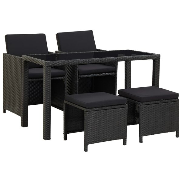 Andrasta 3 Piece Dining Set with Cushions by Latitude Run