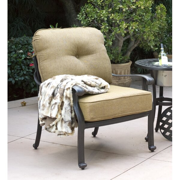 Lebanon Patio Chair with Cushions (Set of 4) by Three Posts