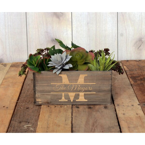 McCurdy Personalized Wood Planter Box by Winston Porter