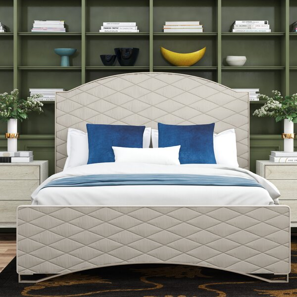 Quilty Pleasure Upholstered Standard Bed with Mattress by Caracole Classic Caracole Classic