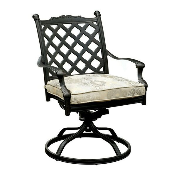 Mclea Swivel Patio Dining Chair with Cushion by Darby Home Co