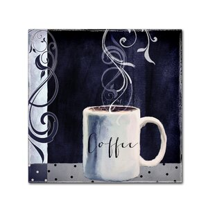 'Cafe Blue I' by Color Bakery Graphic Art on Wrapped Canvas by Trademark Fine Art