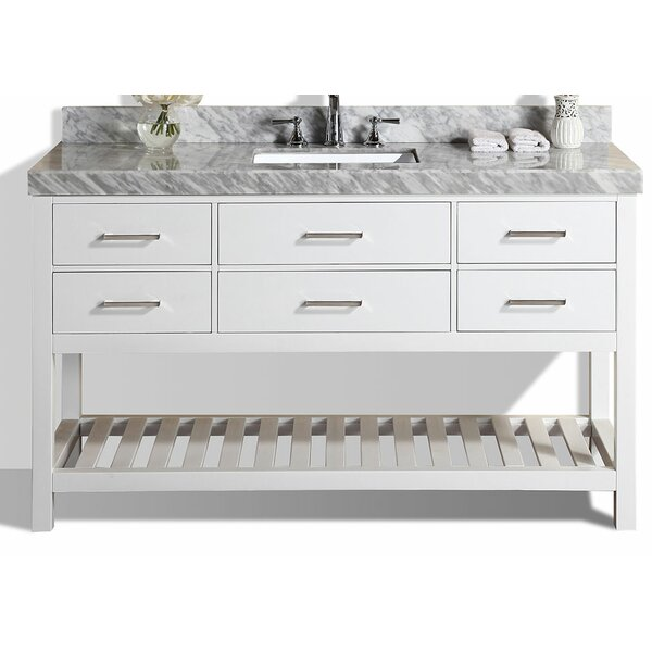 Laguna 61 Single Modern Bathroom Vanity Set by Pacific Collection