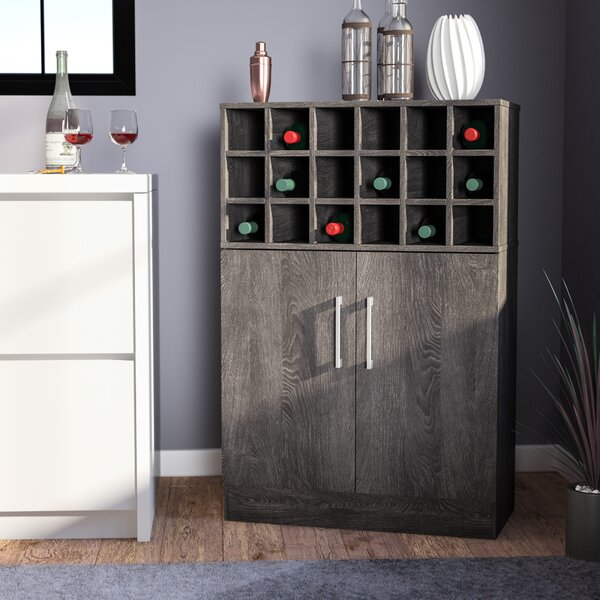 Buena Vista Mid Century Wine and Bar Cabinet by Zipcode Design