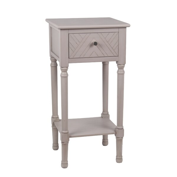 Shamir End Table With Storage By Bungalow Rose