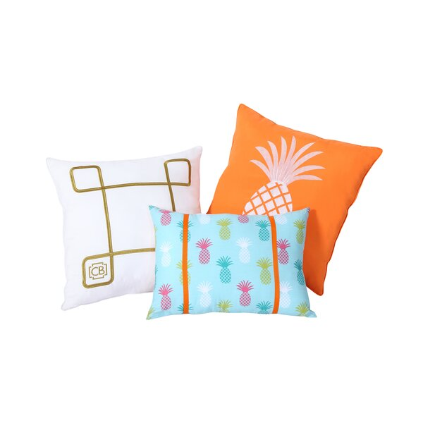 Tropical Clairebella 3 Piece Pillow Set by VCNY