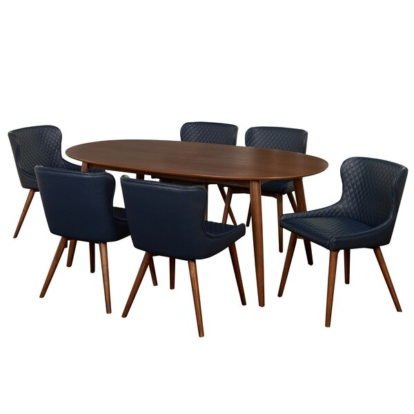 West Line 7 Piece Dining Set by George Oliver