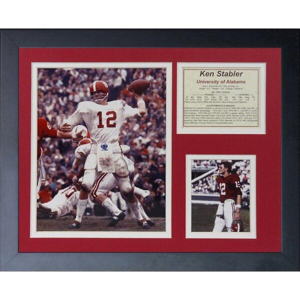 Ken Stabler - Alabama Framed Memorabilia by Legends Never Die