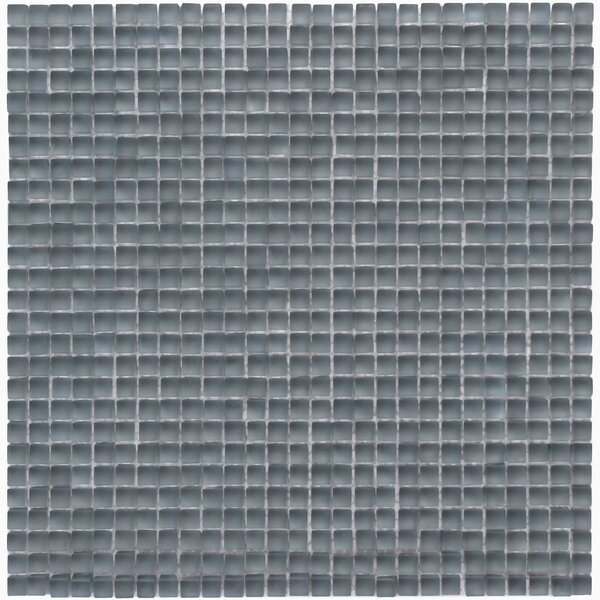 Atlantis 0.25 x 0.25 Glass Mosaic Tile in Beluga Dark Gray by Solistone