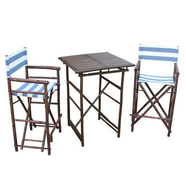 Kapur 3 Piece Bar Height Dining Set By Bloomsbury Market by Bloomsbury Market Great price