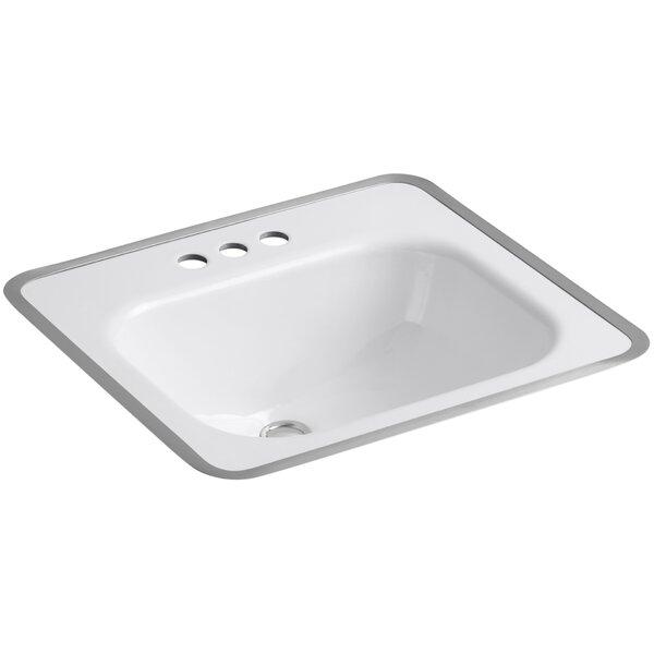 Tahoe Metal Rectangular Drop-In Bathroom Sink with Overflow by Kohler