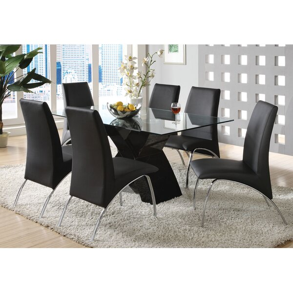 Modern  Rushing 7 Piece Dining Set By Orren Ellis No Copoun