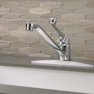 Delta Single Handle Kitchen Faucet with Side Spray