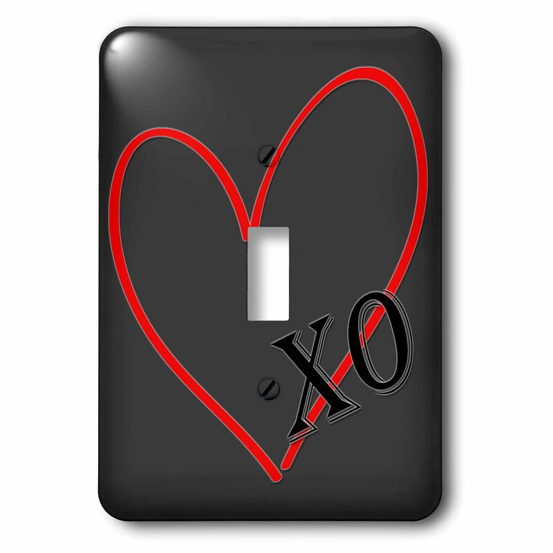 3drose Loveheart And Ovalentines Day 1 Gang Toggle Light Switch Wall Plate Wayfair