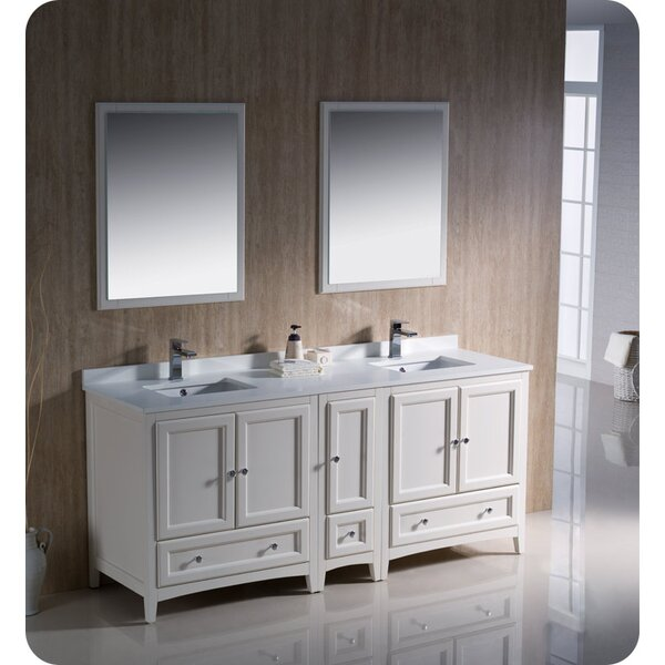 Oxford 72 Double Bathroom Vanity Set with Mirrors