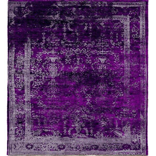 One-of-a-Kind Macdougall Hand-Knotted Purple 6' x 9' Area Rug