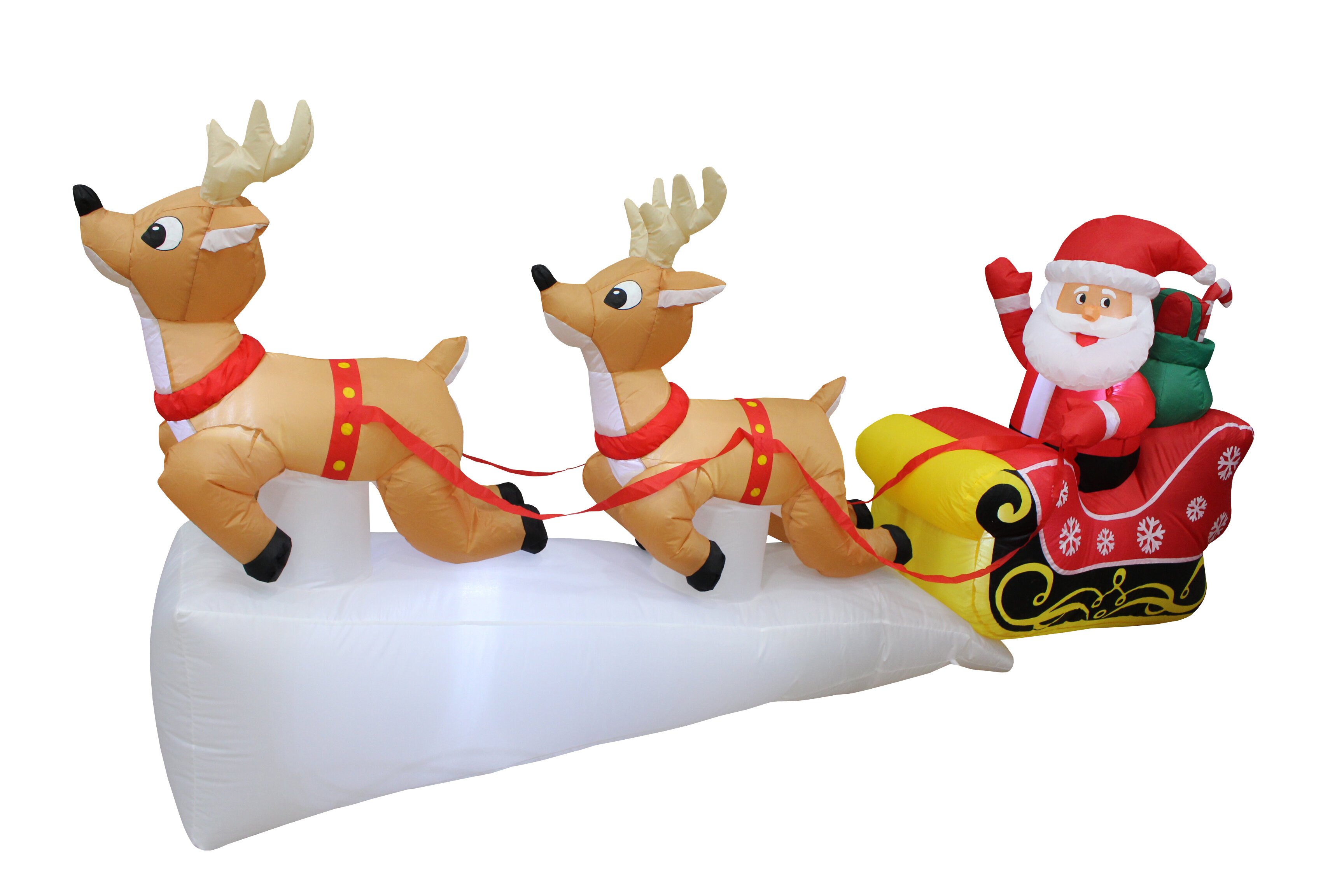 The Holiday Aisle Santa Claus Reindeer Sleigh Christmas Inflatable Reviews Wayfair