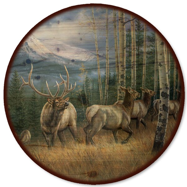 Back Country Elk Lazy Susan by WGI-GALLERY