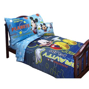 Mickey Mouse Space Adventures 4 Piece Toddler Bedding Set By Disney Baby