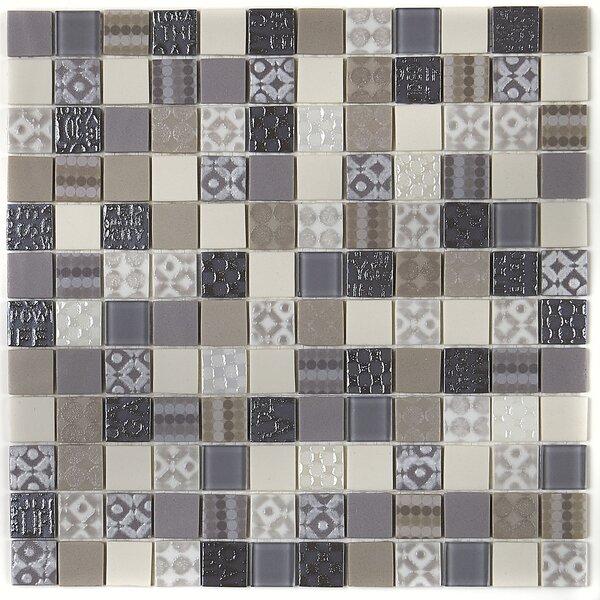 Lexington 12 x 12 Glass Mosaic Tile in Metro Taupe by Itona Tile