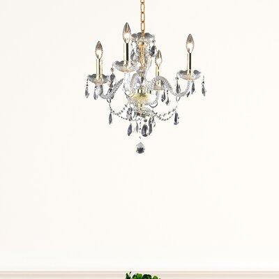 Hansen 5 Light Shaded Classic Traditional Chandelier