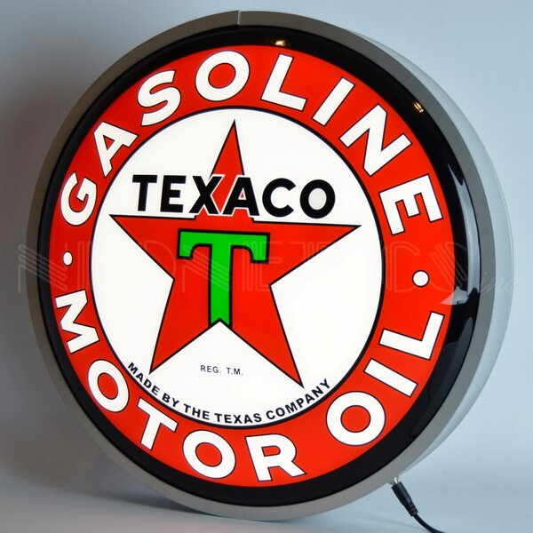 Texaco Motor Oil Backlit LED Lighted Sign by Neone