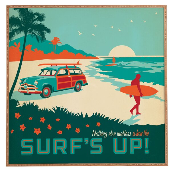 Group Surfs Up Framed Graphic Art by East Urban Home
