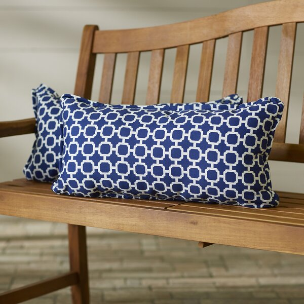 Anabella Coastal Indoor/Outdoor Lumbar Pillow (Set of 2) by Willa Arlo Interiors