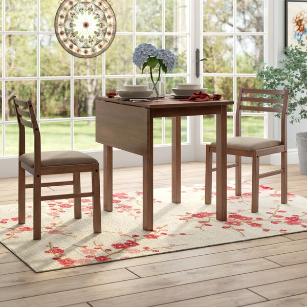 Arquette 3 Piece Drop Leaf Dining Set by Andover Mills Andover Mills