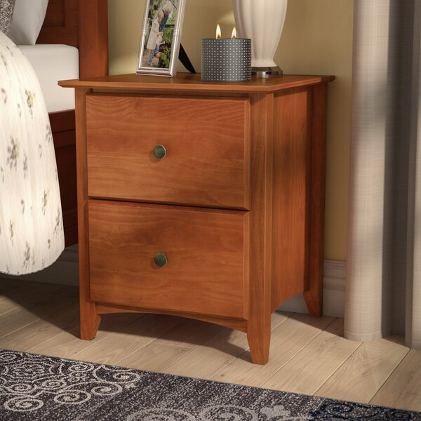 Faringdon 2 Drawer Nightstand by Three Posts