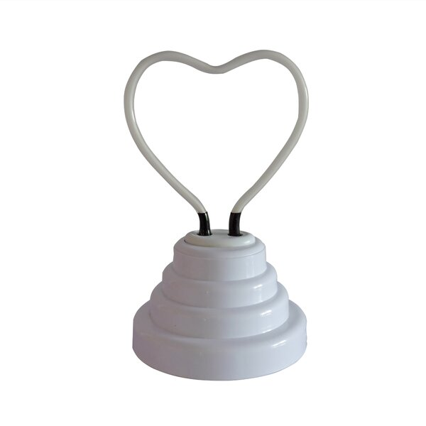 Heart Neon Table Lamp by Wrought Studio